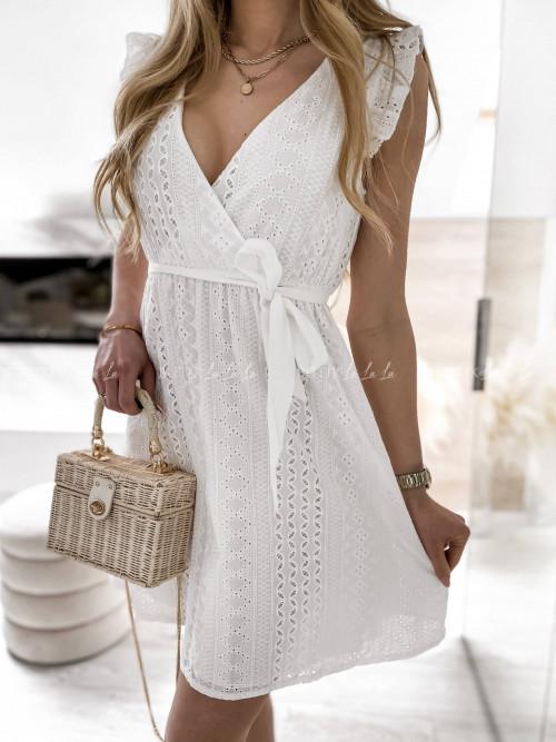 sukienka biała ażurowa Nirvana