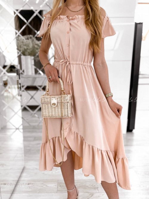 sukienka pudrowa Laviva