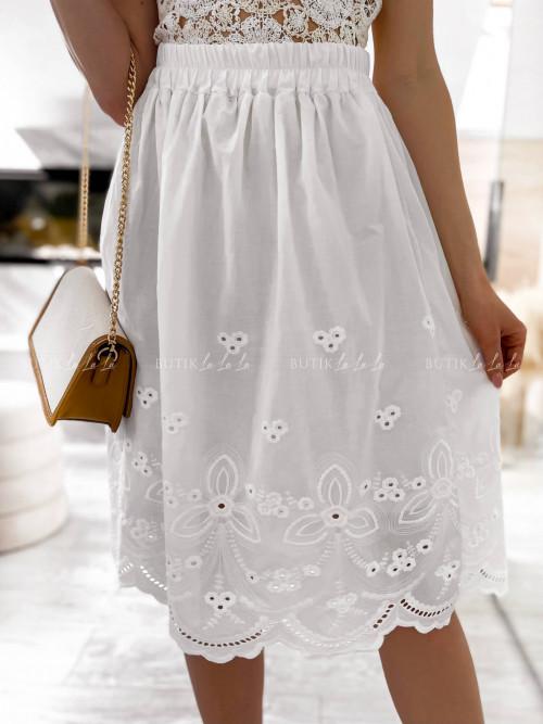 spódnica biała midi Calida