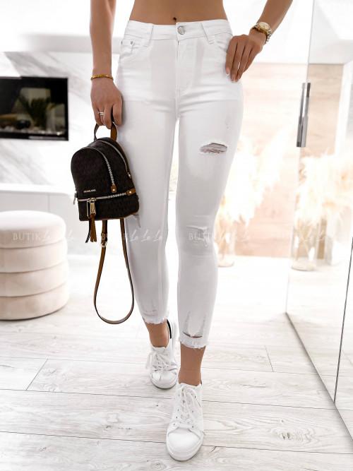 spodnie białe z przetarciami Erin
