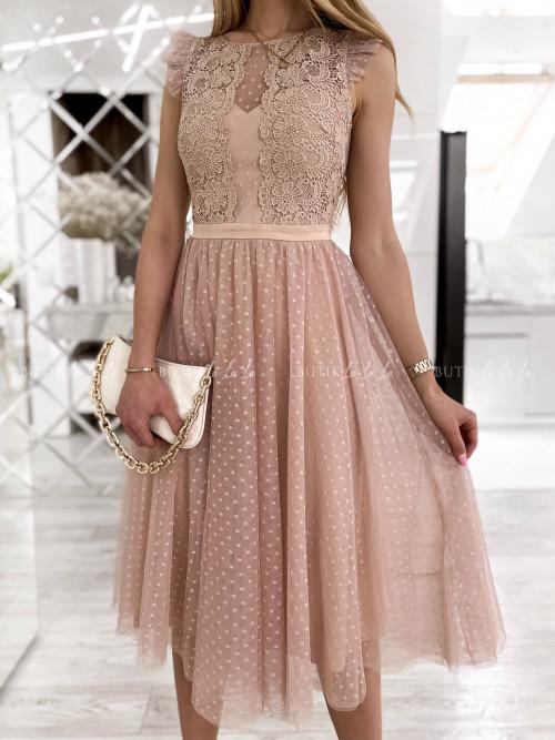 sukienka pudrowa Mathildis