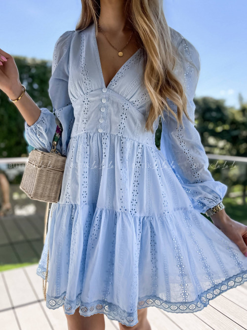 Sukienka błękitna ażurowa Somalia