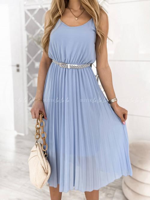 sukienka błękitna plisa Artiva