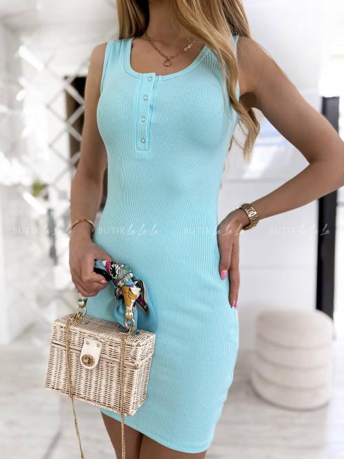 sukienka turkusowa Kora