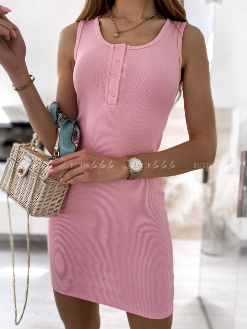 sukienka różowa Kora