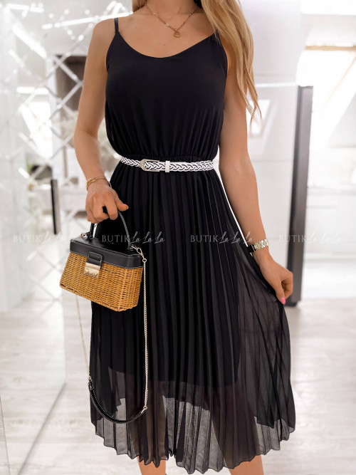 sukienka czarna plisa Artiva