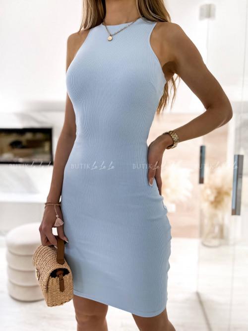 sukienka niebieska prążkowa Latissa