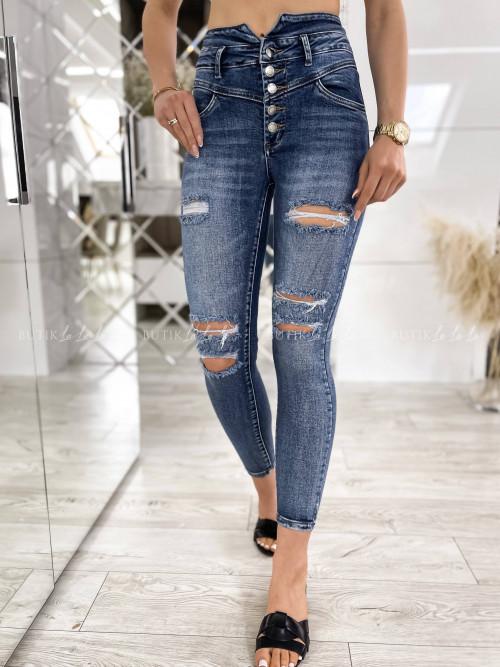 spodnie jeans blue z guzikami Kami