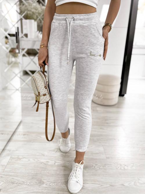spodnie dresowe szare Love