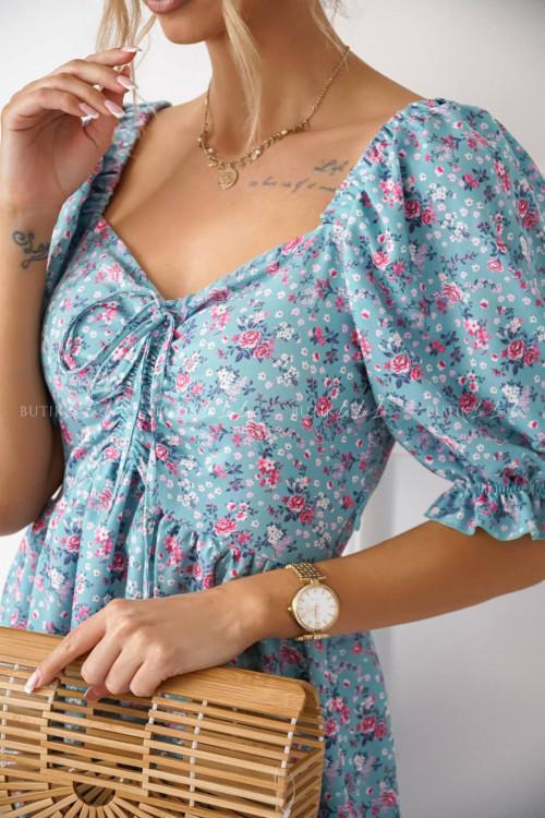 sukienka z marszczeniem w kwiatowy print Issa