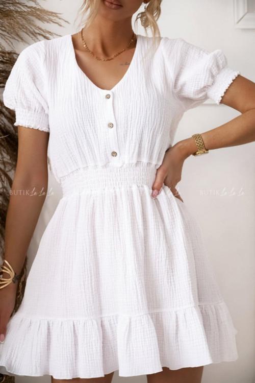 sukienka muślinowa biała Loida