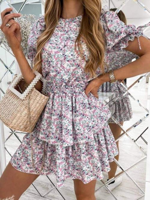 sukienka w kwiatowy print Loe