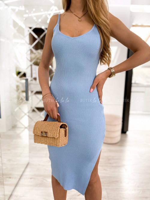 sukienka błękitna prążkowana Giorgia