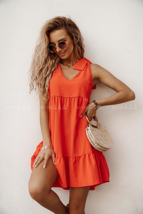sukienka orange Maris
