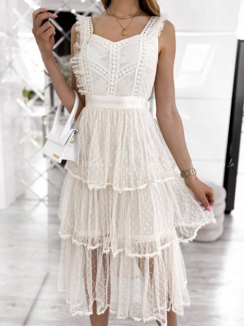 Sukienka kremowa Sycylia