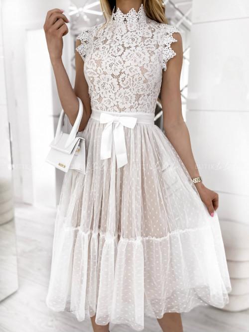 sukienka biała Lejdis