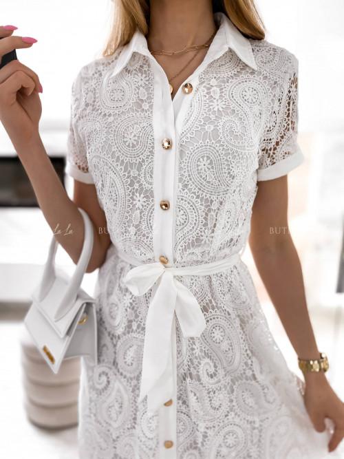 sukienka biała koronkowa Sabrina