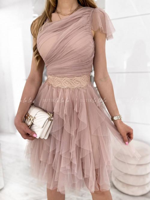Sukienka tiulowa pudrowa Christin