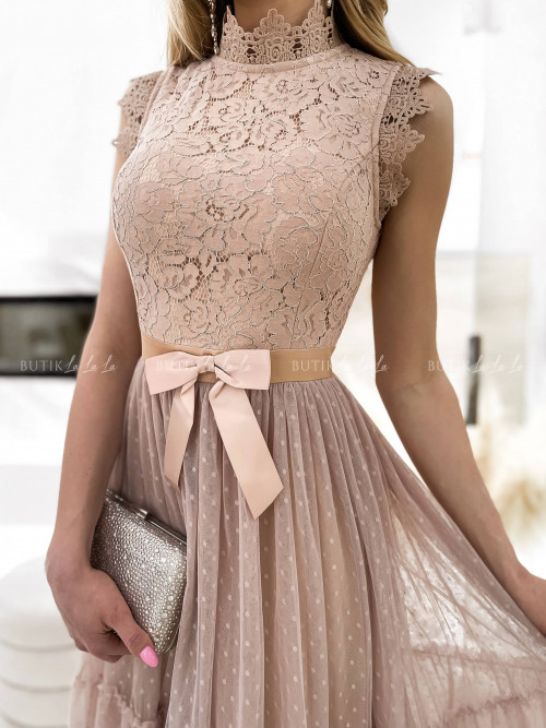 sukienka pudrowa Lejdis