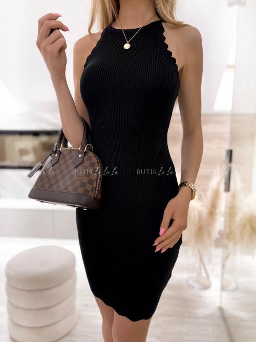 sukienka czarna prążkowana Naya