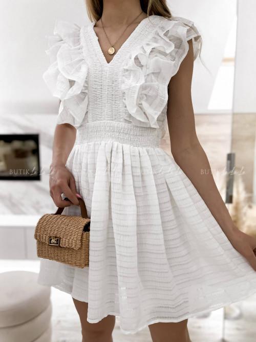sukienka biała Karla