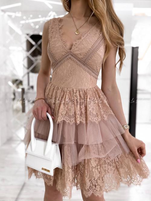 sukienka pudrowa Samanta