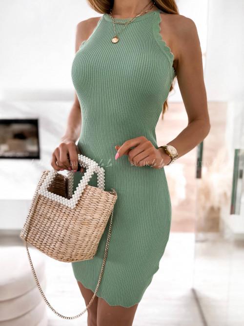 sukienka zielona prążkowana Naya