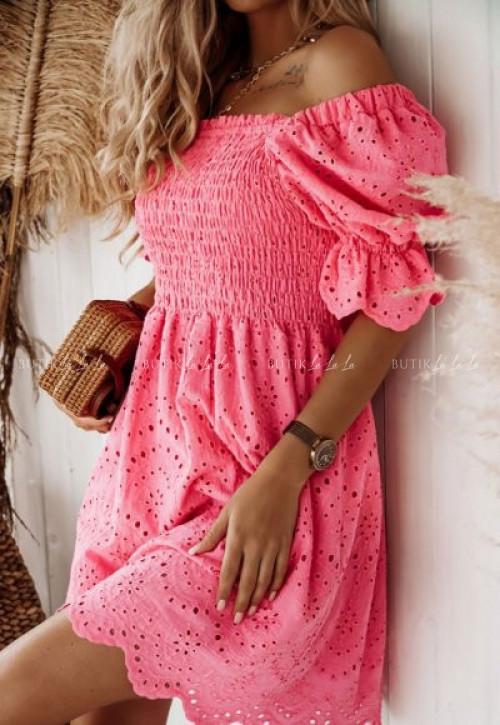 sukienka różowa Baliami