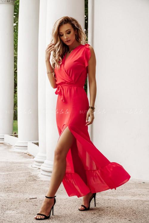 sukienka malinowa Azil