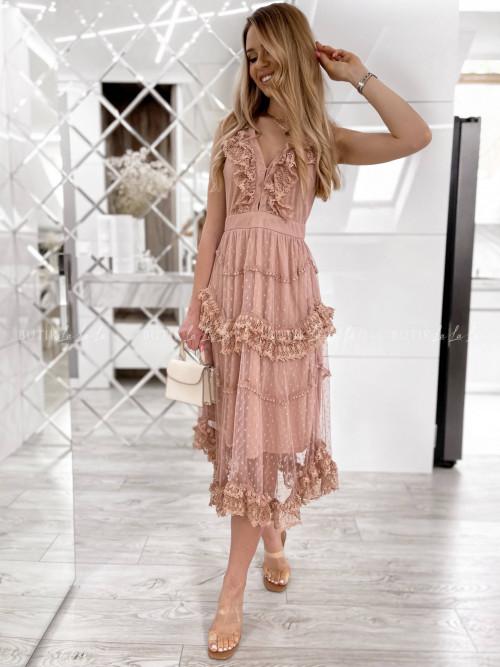 Sukienka pudrowa Lily