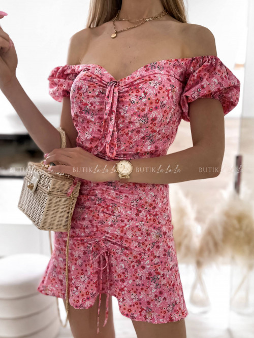 sukienka mini ze ściągaczem Marisa