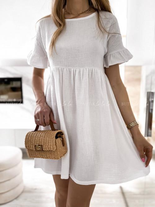 sukienka biała muślinowa Creo