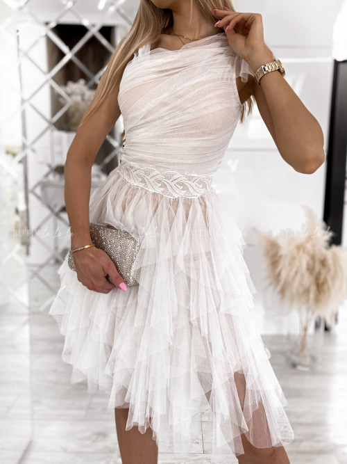 Sukienka tiulowa biała Christin