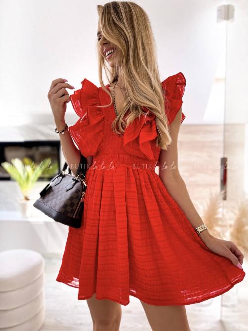 sukienka czerwona Karla