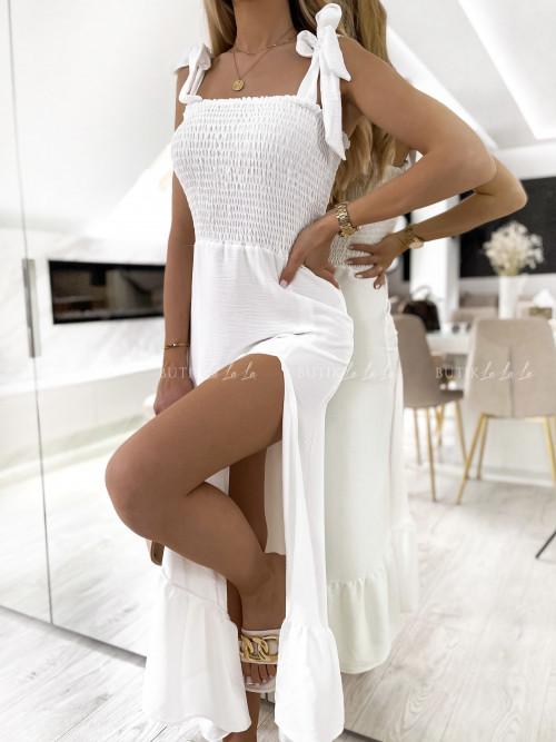 Sukienka maxi biała Emi