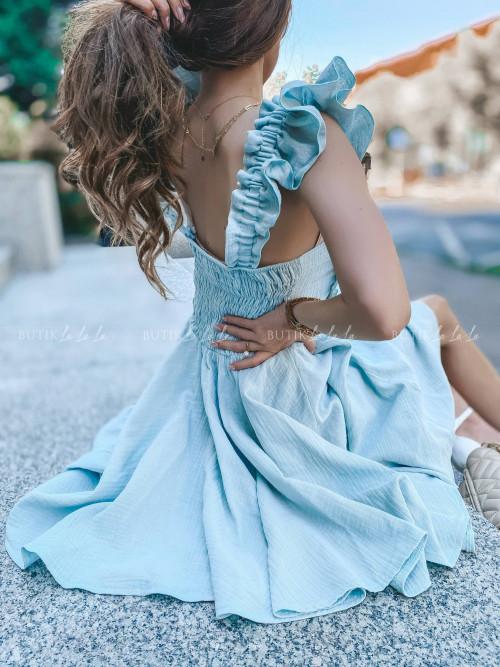 sukienka z wiązaniem seledynowa Wanessa