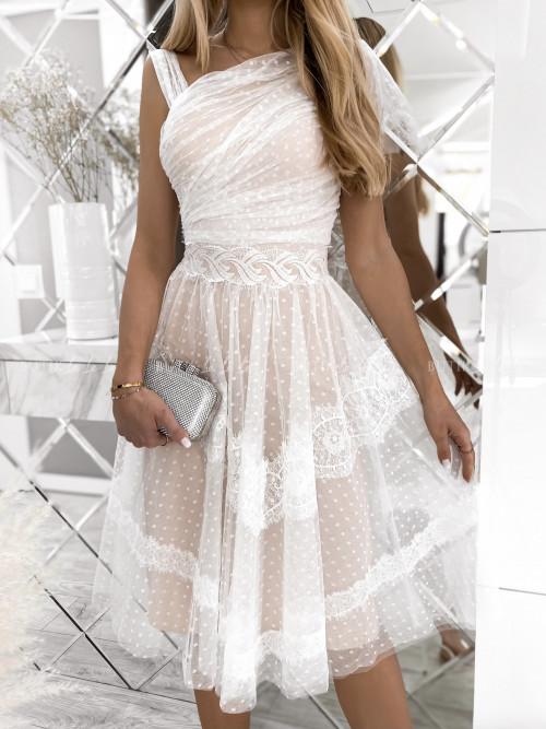 sukienka tiulowa biała Adelia