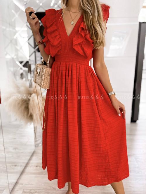 sukienka czerwona Kara
