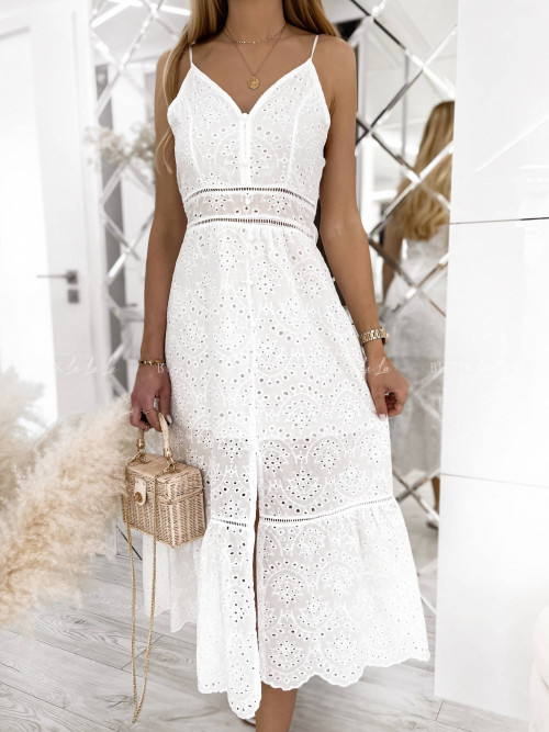 sukienka na ramiączka maxi ażurowa Martela