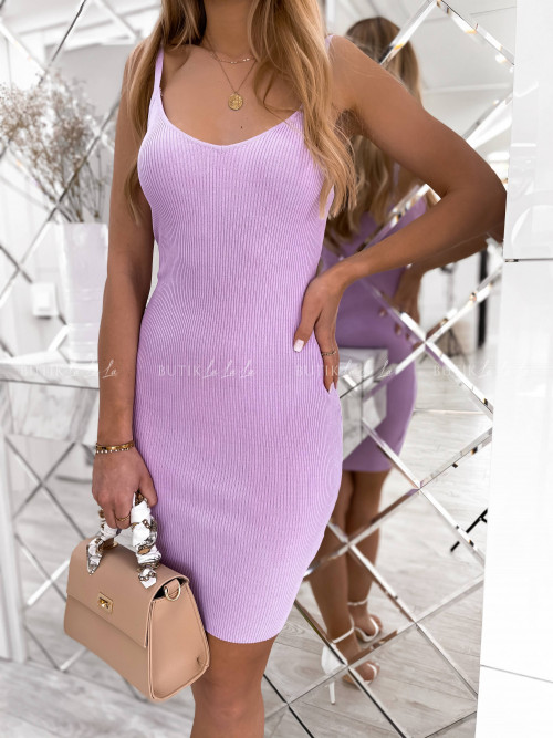 sukienka fioletowa prążkowana Moorea