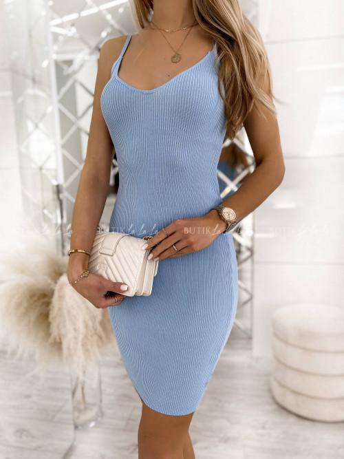 sukienka błękitna prążkowana Moorea