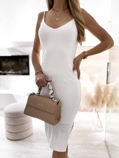 Sukienka dopasowana biała Liodo