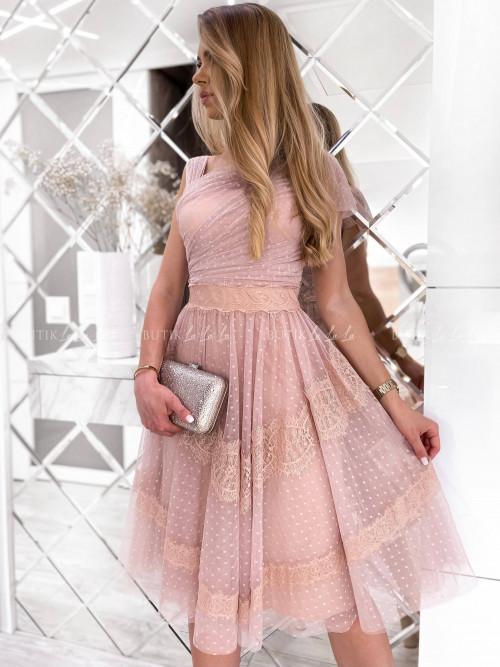 Sukienka tiulowa pudrowa Adelia