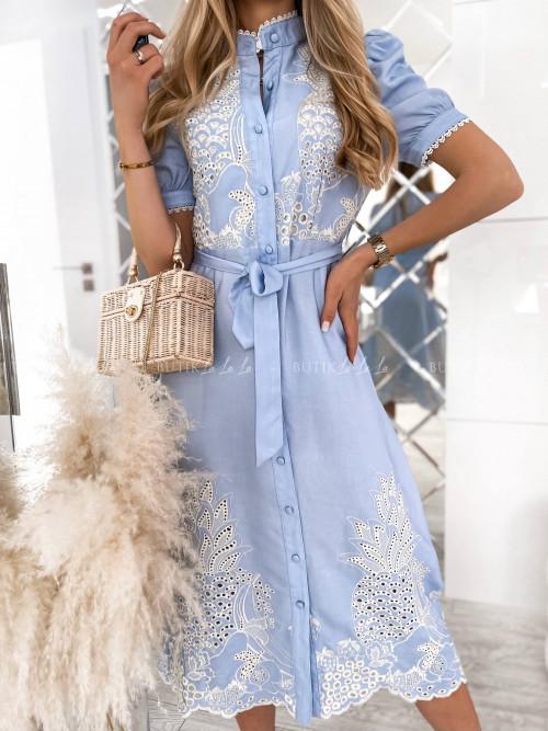sukienka niebieska maxi Arletta