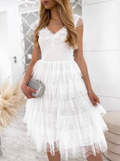 sukienka tiulowa biała Wiss