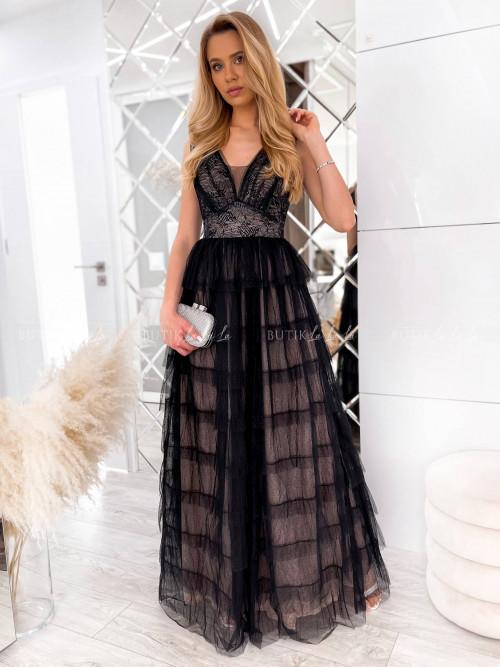 sukienka maxi czarna Servio