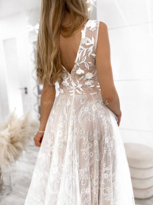 sukienka biała maxi Messa