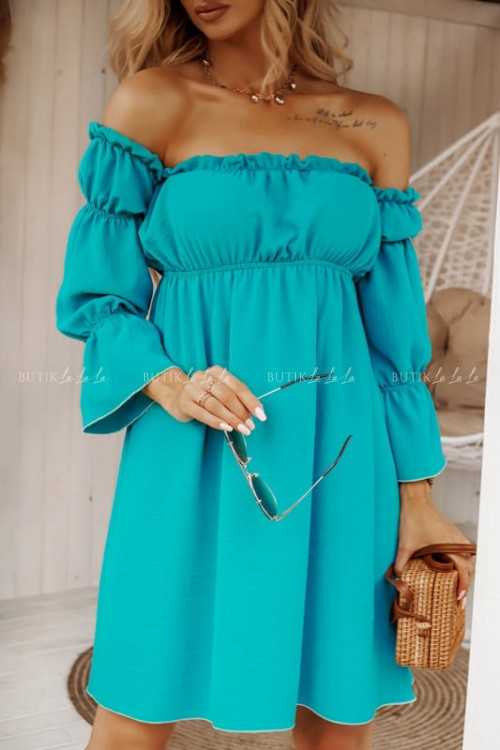 sukienka turkusowa Soler