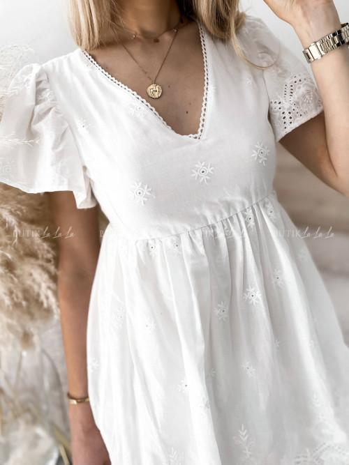 sukienka biała Lina
