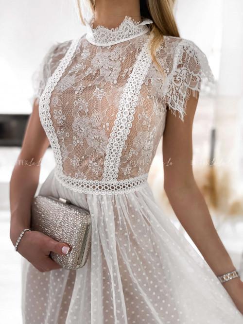 sukienka biała koronkowa Selima